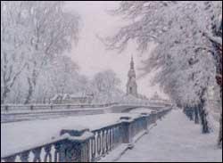 Снегопад. Явления природы