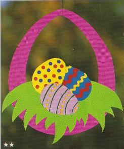 Поделка с пестрыми пасхальными яйцами