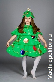 Новогодние детские костюмы. Ёлочка