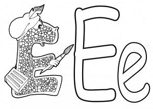 Учим букву Е