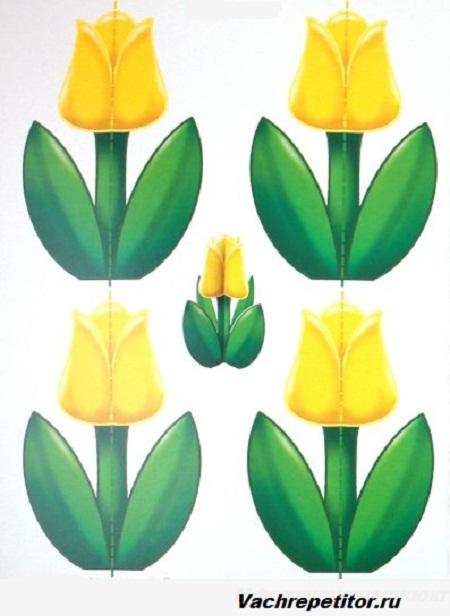 Цветы к 8 марта своими руками