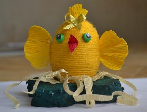 """Детская поделка к Пасхе своими руками """"Пасхальный цыплёнок"""""""