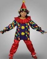 Детские новогодние костюмы. Костюм  скомороха